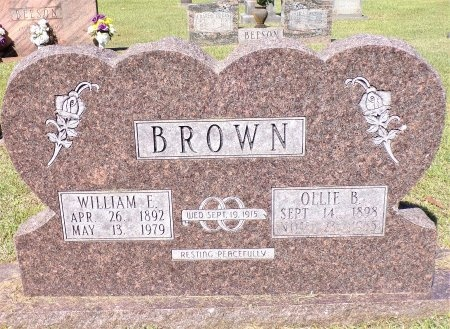 BROWN, WILLIAM ELBERT - Calhoun County, Arkansas | WILLIAM ELBERT BROWN - Arkansas Gravestone Photos