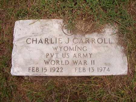 CARROLL (VETERAN WWII), CHARLIE J - Calhoun County, Arkansas | CHARLIE J CARROLL (VETERAN WWII) - Arkansas Gravestone Photos