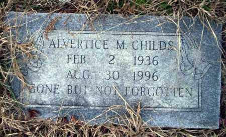 CHILDS, ALVERTICE M - Calhoun County, Arkansas   ALVERTICE M CHILDS - Arkansas Gravestone Photos