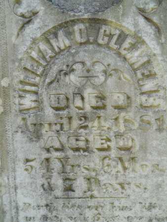 CLEMENS, WILLIAM OTIS (CLOSEUP) - Calhoun County, Arkansas | WILLIAM OTIS (CLOSEUP) CLEMENS - Arkansas Gravestone Photos