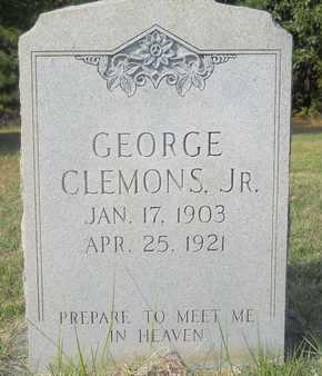 CLEMONS, JR, GEORGE - Calhoun County, Arkansas   GEORGE CLEMONS, JR - Arkansas Gravestone Photos