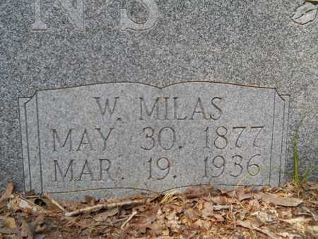 CLEMONS, W MILAS (CLOSEUP) - Calhoun County, Arkansas | W MILAS (CLOSEUP) CLEMONS - Arkansas Gravestone Photos