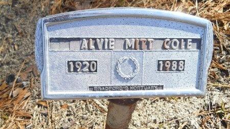 COLE, ALVIE MITT - Calhoun County, Arkansas   ALVIE MITT COLE - Arkansas Gravestone Photos