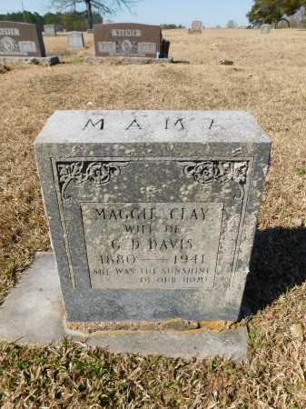 CLAY DAVIS, MAGGIE - Calhoun County, Arkansas   MAGGIE CLAY DAVIS - Arkansas Gravestone Photos