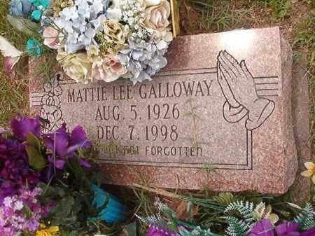GALLOWAY, MATTIE LEE - Calhoun County, Arkansas | MATTIE LEE GALLOWAY - Arkansas Gravestone Photos
