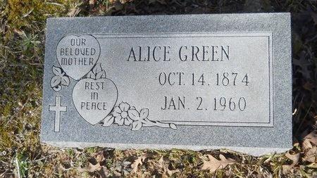 GREEN, ALICE - Calhoun County, Arkansas | ALICE GREEN - Arkansas Gravestone Photos