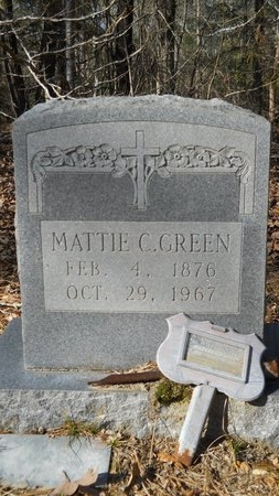 GREEN, MATTIE C - Calhoun County, Arkansas | MATTIE C GREEN - Arkansas Gravestone Photos