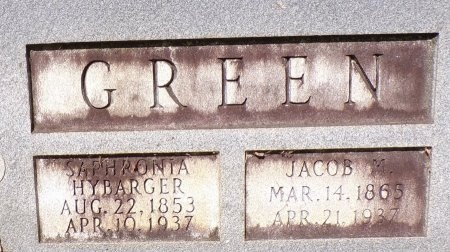 GREEN, JACOB M (CLOSE UP) - Calhoun County, Arkansas | JACOB M (CLOSE UP) GREEN - Arkansas Gravestone Photos