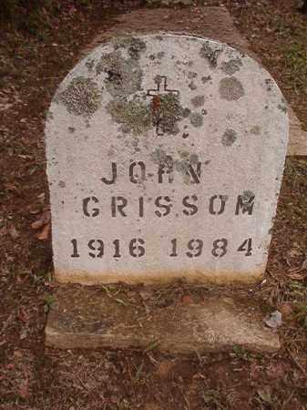 GRISSOM, JOHN - Calhoun County, Arkansas | JOHN GRISSOM - Arkansas Gravestone Photos