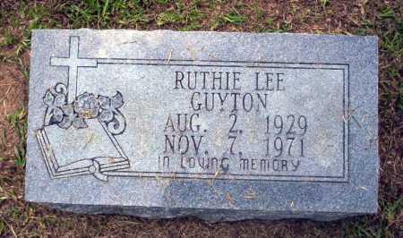 GUYTON, RUTHIE LEE - Calhoun County, Arkansas | RUTHIE LEE GUYTON - Arkansas Gravestone Photos
