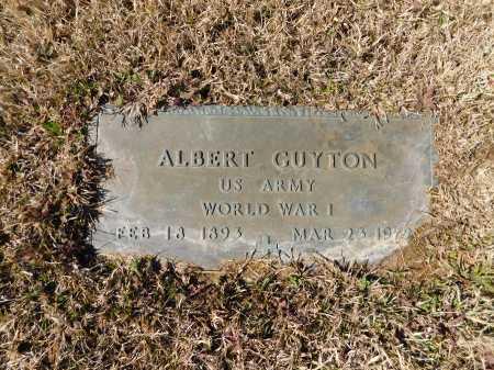 GUYTON (VETERAN WWI), ALBERT - Calhoun County, Arkansas | ALBERT GUYTON (VETERAN WWI) - Arkansas Gravestone Photos