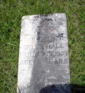 HALL, GREEN - Calhoun County, Arkansas   GREEN HALL - Arkansas Gravestone Photos