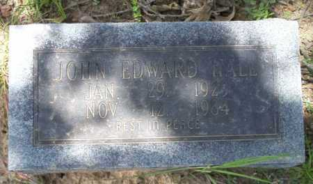 HALL, JOHN EDWARD - Calhoun County, Arkansas | JOHN EDWARD HALL - Arkansas Gravestone Photos