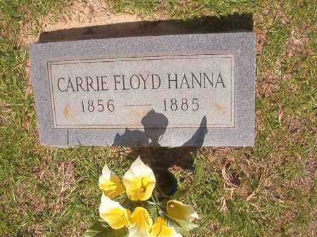 HANNA, CARRIE - Calhoun County, Arkansas | CARRIE HANNA - Arkansas Gravestone Photos