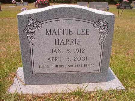 HARRIS, MATTIE LEE - Calhoun County, Arkansas | MATTIE LEE HARRIS - Arkansas Gravestone Photos