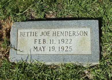 HENDERSON, BETTIE JOE - Calhoun County, Arkansas   BETTIE JOE HENDERSON - Arkansas Gravestone Photos