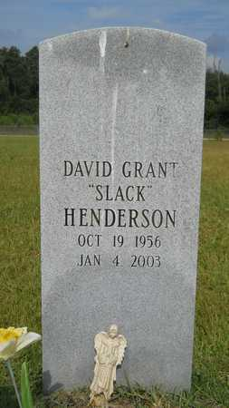 "HENDERSON, DAVID GRANT ""SLACK"" - Calhoun County, Arkansas | DAVID GRANT ""SLACK"" HENDERSON - Arkansas Gravestone Photos"