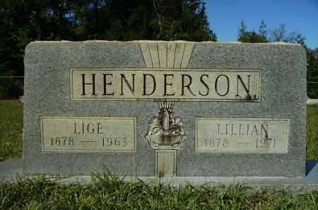 HENDERSON, LILLIAN - Calhoun County, Arkansas   LILLIAN HENDERSON - Arkansas Gravestone Photos