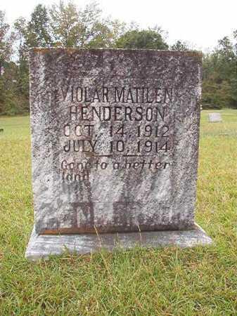 HENDERSON, VIOLAR MATILEN - Calhoun County, Arkansas | VIOLAR MATILEN HENDERSON - Arkansas Gravestone Photos