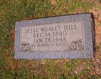 HILL, JESSE WESLEY - Calhoun County, Arkansas   JESSE WESLEY HILL - Arkansas Gravestone Photos