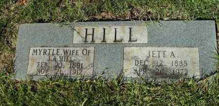 HILL, JETT A - Calhoun County, Arkansas | JETT A HILL - Arkansas Gravestone Photos