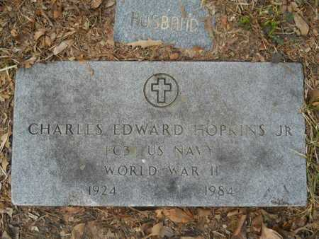 HOPKINS, JR (VETERAN WWII), CHARLES EDWARD - Calhoun County, Arkansas | CHARLES EDWARD HOPKINS, JR (VETERAN WWII) - Arkansas Gravestone Photos