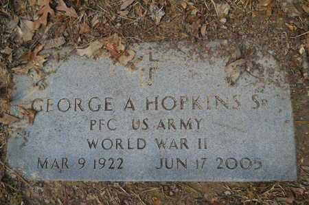 HOPKINS, SR (VETERAN WWII), GEORGE A - Calhoun County, Arkansas | GEORGE A HOPKINS, SR (VETERAN WWII) - Arkansas Gravestone Photos