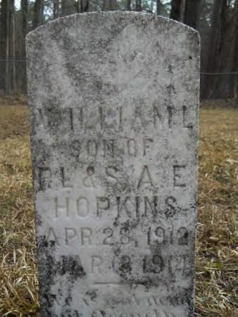 HOPKINS, WILLIAM L - Calhoun County, Arkansas | WILLIAM L HOPKINS - Arkansas Gravestone Photos