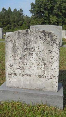 JONES, ELIZA E - Calhoun County, Arkansas   ELIZA E JONES - Arkansas Gravestone Photos