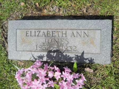 JONES, ELIZABETH ANN - Calhoun County, Arkansas | ELIZABETH ANN JONES - Arkansas Gravestone Photos