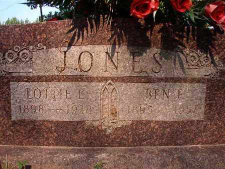 JONES, BEN F - Calhoun County, Arkansas | BEN F JONES - Arkansas Gravestone Photos