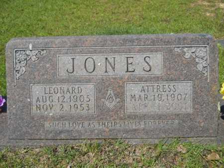 JONES, ATTRESS - Calhoun County, Arkansas   ATTRESS JONES - Arkansas Gravestone Photos