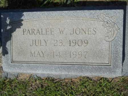JONES, PARALEE W - Calhoun County, Arkansas | PARALEE W JONES - Arkansas Gravestone Photos