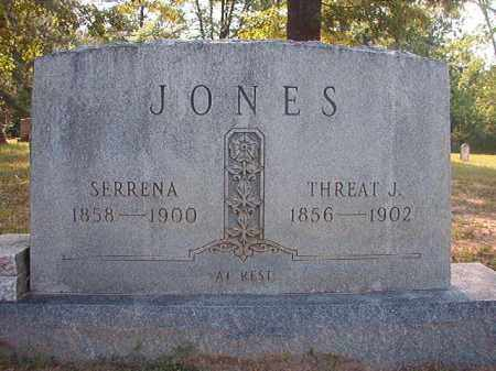 JONES, THREAT J - Calhoun County, Arkansas | THREAT J JONES - Arkansas Gravestone Photos