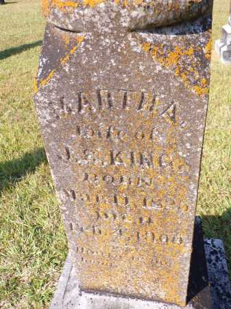 KING, MARTHA (CLOSEUP) - Calhoun County, Arkansas | MARTHA (CLOSEUP) KING - Arkansas Gravestone Photos