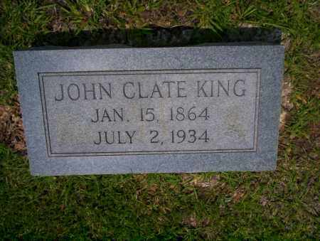 KING, JOHN CLATE - Calhoun County, Arkansas   JOHN CLATE KING - Arkansas Gravestone Photos