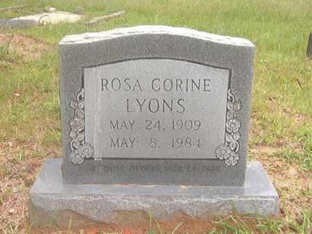 LYONS, ROSA CORINE - Calhoun County, Arkansas   ROSA CORINE LYONS - Arkansas Gravestone Photos