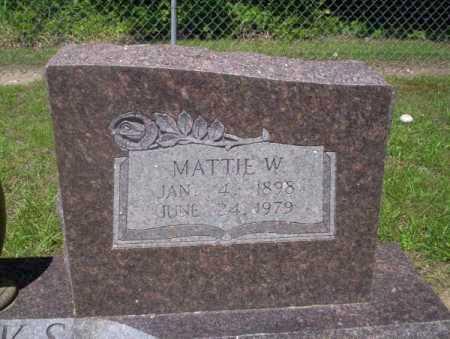 MARKS, MATTIE W - Calhoun County, Arkansas | MATTIE W MARKS - Arkansas Gravestone Photos
