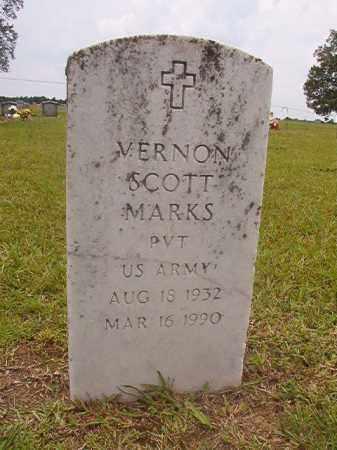 MARKS (VETERAN), VERNON SCOTT - Calhoun County, Arkansas | VERNON SCOTT MARKS (VETERAN) - Arkansas Gravestone Photos