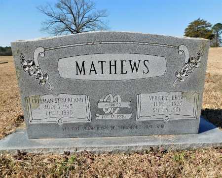 MATHEWS, FREEMAN STRICKLAND - Calhoun County, Arkansas   FREEMAN STRICKLAND MATHEWS - Arkansas Gravestone Photos