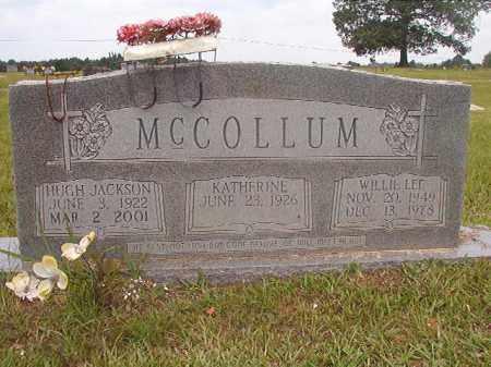 MCCOLLUM, HUGH JACKSON - Calhoun County, Arkansas | HUGH JACKSON MCCOLLUM - Arkansas Gravestone Photos