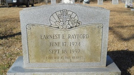RAYFORD, EARNEST E - Calhoun County, Arkansas | EARNEST E RAYFORD - Arkansas Gravestone Photos