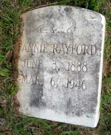 RAYFORD, FANNIE - Calhoun County, Arkansas | FANNIE RAYFORD - Arkansas Gravestone Photos
