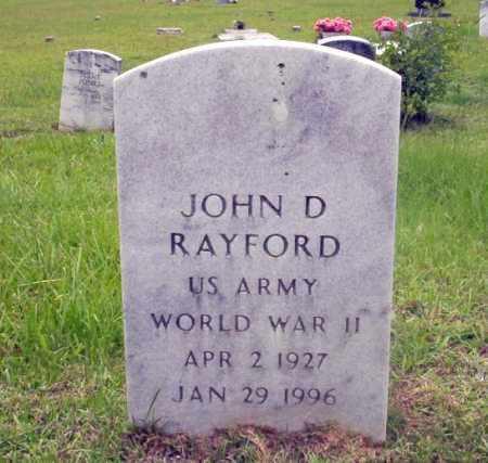 RAYFORD (VETERAN WWII), JOHN D - Calhoun County, Arkansas | JOHN D RAYFORD (VETERAN WWII) - Arkansas Gravestone Photos