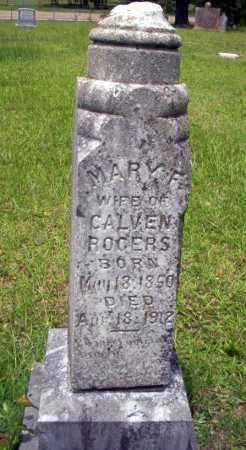 ROGERS, MARY F - Calhoun County, Arkansas | MARY F ROGERS - Arkansas Gravestone Photos
