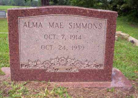 SIMMONS, ALMA MAE - Calhoun County, Arkansas | ALMA MAE SIMMONS - Arkansas Gravestone Photos