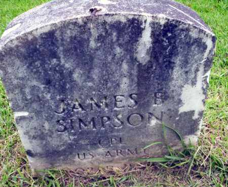 SIMPSON (VETERAN), JAMES B - Calhoun County, Arkansas | JAMES B SIMPSON (VETERAN) - Arkansas Gravestone Photos