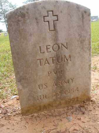 TATUM (VETERAN), LEON - Calhoun County, Arkansas | LEON TATUM (VETERAN) - Arkansas Gravestone Photos