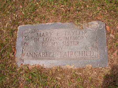TAYLOR, MARY E - Calhoun County, Arkansas | MARY E TAYLOR - Arkansas Gravestone Photos