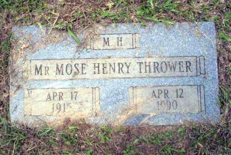 THROWER, MOSE HENRY - Calhoun County, Arkansas | MOSE HENRY THROWER - Arkansas Gravestone Photos